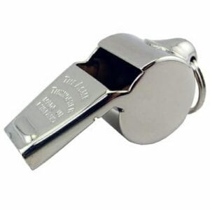 Acme Nickel Brass Whistle | Whistles and Lanyards | Aquamentor
